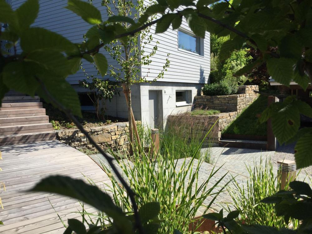 murs en pierre, jardins japonais, jardins contemporains, terrasses ...